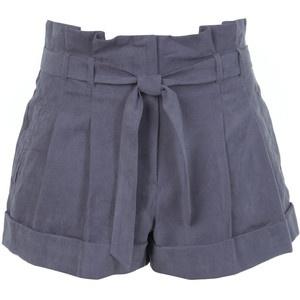 Paper bag waist shorts.
