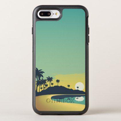 Serene Beach Sunset & Palm Trees | Phone Case - simple gifts custom gift idea customize