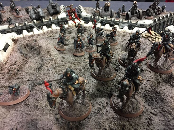 Armies on Parade: Closeup of Death Riders