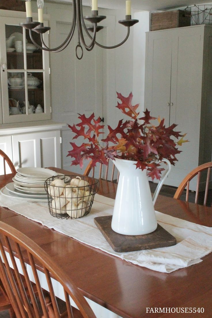 Love these fall ideas for my enamelware and billiard ball basket