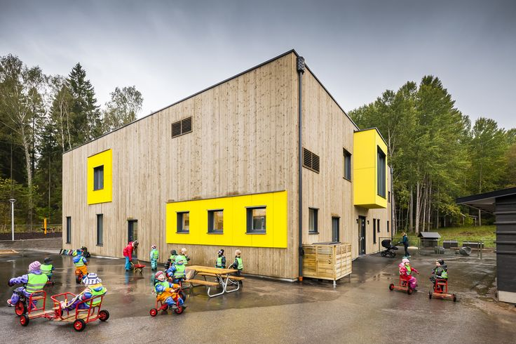 Completed in 2014 in Vendelsö, Sweden. Images by Hundven-Clements Photography                . Vendelsö Hage preschool is the result of a close collaboration with the company Friendly Building, Turako AB, Hemfosa Properties and Pysslingen...