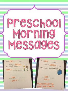 Good for Pre-K or the beginning of Kindergarten.A great way to start your circle time and an easy and great way to work on a lot of different skills at once!All messages are 1-2 sentences with visuals to help students read. Skills Reinforced in Morning Messages:WeatherFeelingsretellingColorsShapesLetter Identification and writingNumber identification and writing Color wordsConcepts of printCategories