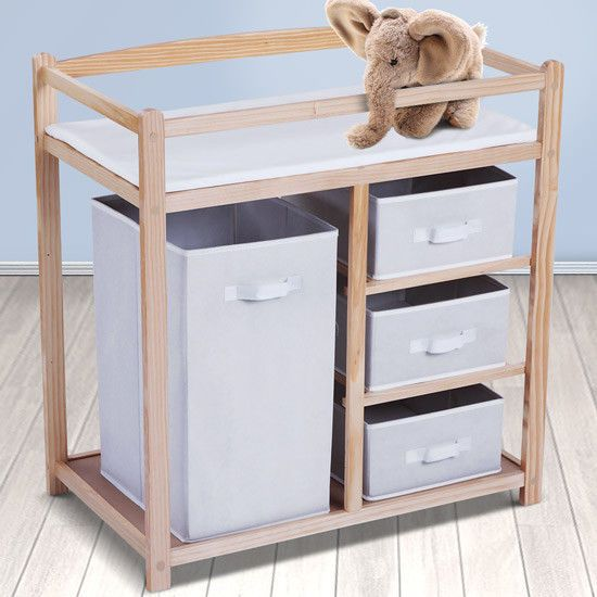 Baby Changing Table INFANTASTIC® Wooden Dresser Station Unit   Baby, Baby Changing & Nappies, Changing Tables & Units   eBay!