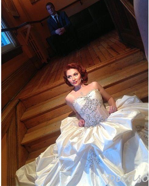 Behind-the-scenes: Bride & Groom Canada 2013 national edition cover shoot. #Hair and #makeup by Picaso Studios. #bridal #bridalhair #bridalmakeup #weddinghair #weddingmakeup