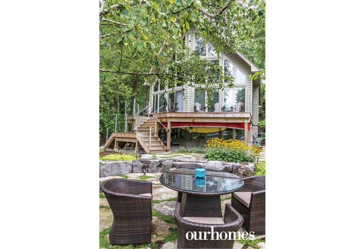 A treasured family cottage gets rebuilt and extensive landscaping turns it into a year-round getaway. - Via OUR HOMES Grey Bruce Spring 2016.  http://www.ourhomes.ca/articles/build/article/natural-spring-gives-cottage-an-outdoor-washing-station