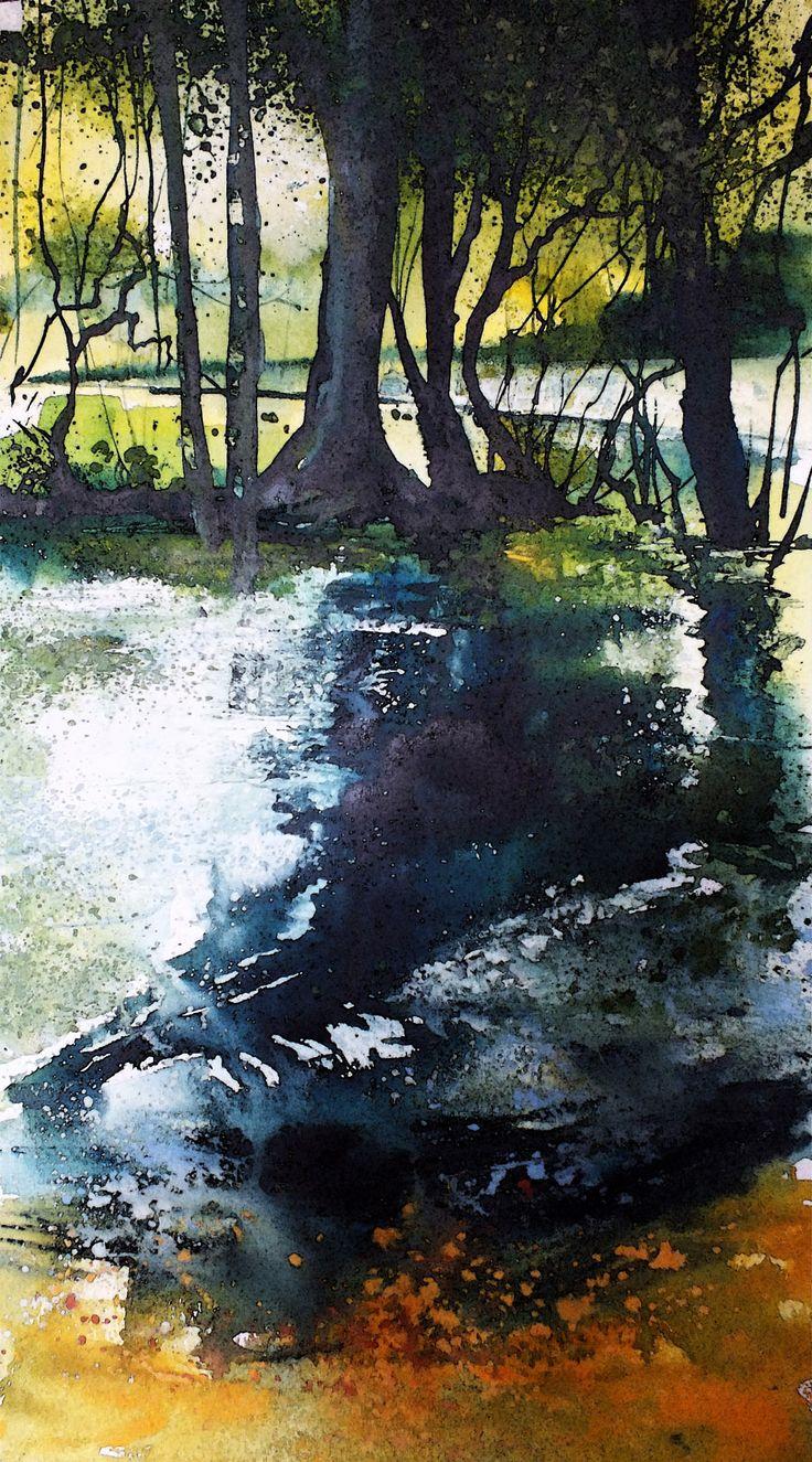 Watercolor artist magazine palm coast fl - Pete Gilbert New Forest Artist Gallery