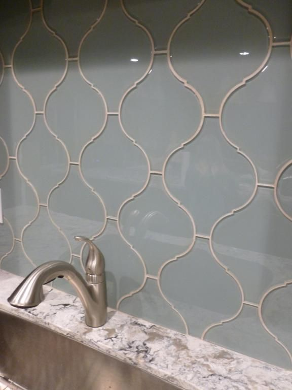 Surf Arabesque Glass Tile Backsplash Tile Backsplash