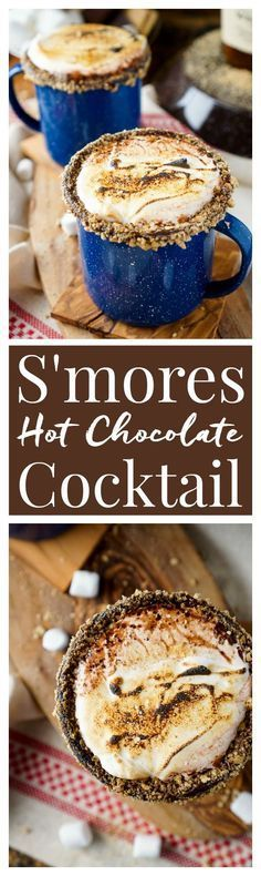 S'mores Hot Chocolate Cocktail