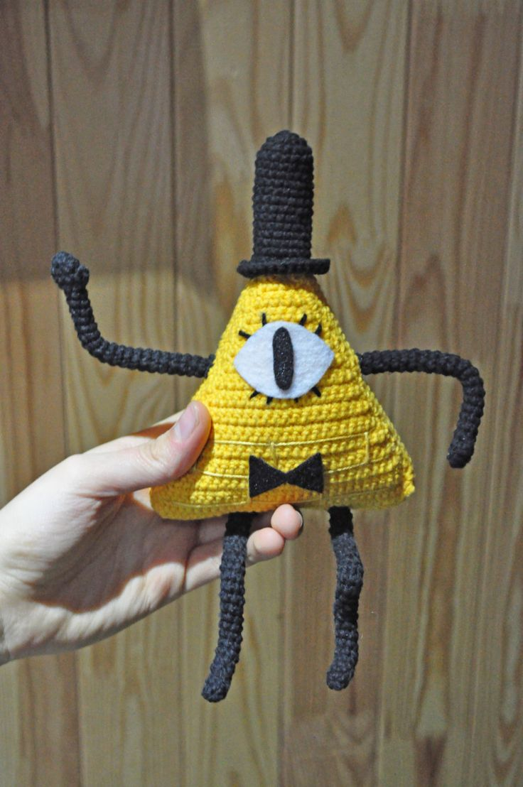 Bill Cipher from Gravity Falls / crochet Bill Cipher / Bill Cipher plush by VictoriaYevl on Etsy