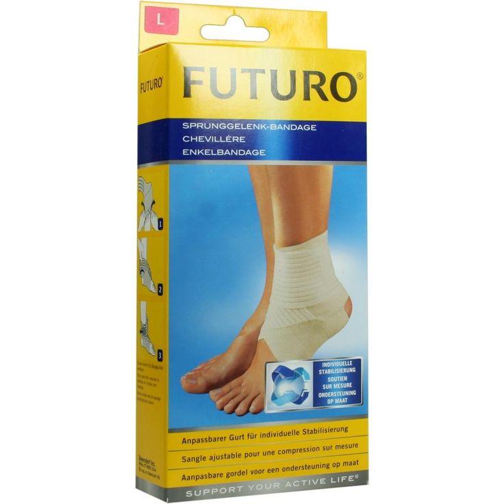 FUTURO Sprunggelenk Bandage L:   Packungsinhalt: 1 St PZN: 07632045 Hersteller: 3M Medica Zwnl.d.3M Deutschl.GmbH Preis: 12,25 EUR inkl.…
