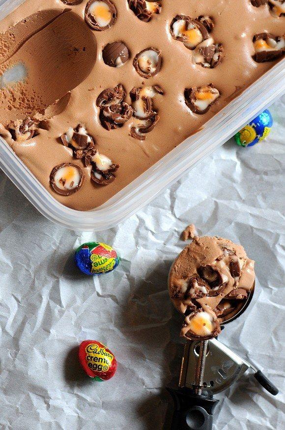 Cadbury Creme Egg Ice Cream | 12 Amazing Dessert Recipes That Are Made With Cadbury Creme Eggs