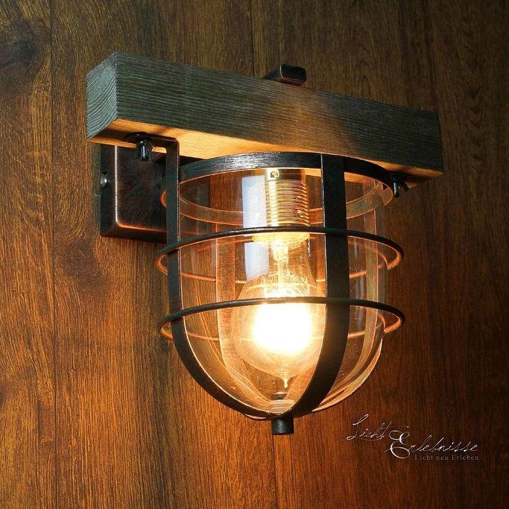 Stilvolle Wandleuchte In Kupfer E27 Vintage Wand Wandlampe Leuchte Innen Flur Mbel Wohnen