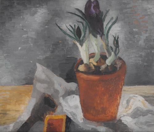 Crocuses in a Flower-pot (1928) by Christopher Wood
