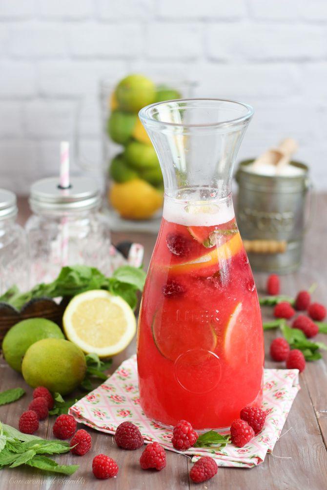 Con aroma de vainilla: Limonada rosa