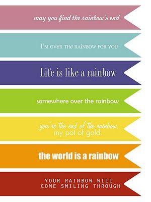 rainbow pennants: Rainbow Quote, Rainbows Theme, St. Patrick'S Day, Rainbows Parties, Free Rainbows Printable, Free Printable, Rainbows Quotes, St Patrick'S Day, Theme Printable