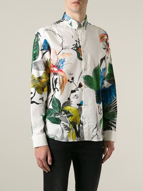 "Roberto Cavalli chemise ""Flowers Birds"""