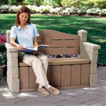 step2 outdoor storage bench