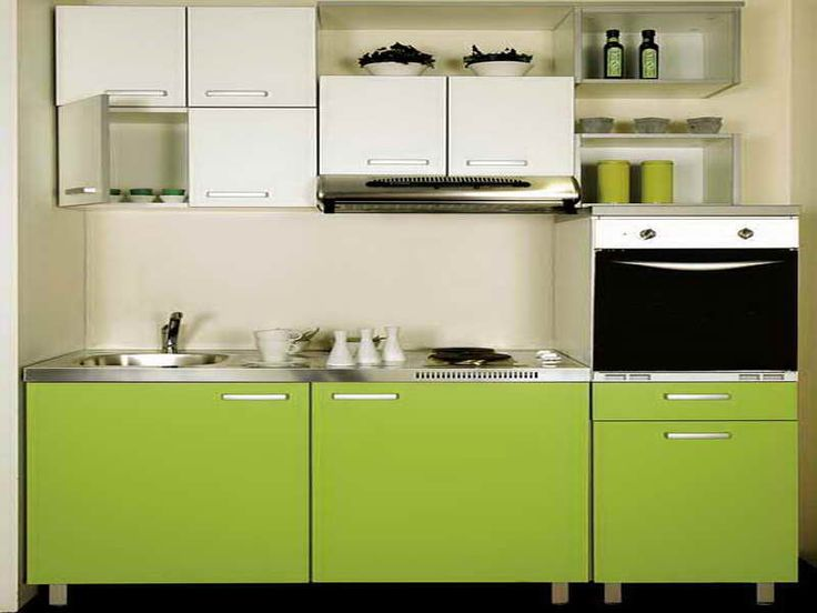 Very Small Kitchen Design Ideas With Green Cabinet
