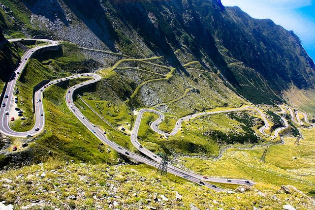 """""""Transfagarasan"""" is an amazing road of  2000 metres which passes over the Fagaras mountains in Transylvania, Romania. In the same time, the Transfagarasan Highway is Romania's most spectacular and best known road thanks to an appearance on BBC Top Gear in 2009."""