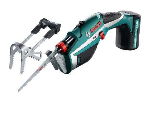 """For those jobs where a pair of secateurs literally 'won't cut it' and a chainsaw would be totally over the top, this Bosch Garden Saw will get your garden back in shape in no time.  This is a lightweight, cordless saw powered by L-Ion batteries so you don't have to worry about cutting through the cord, just cutting through the garden jobs in record time. Will cut branches up to 80 mm (thats just under 3.25"""") - impressive!"""