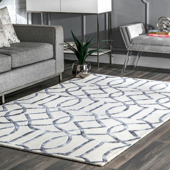 Frostley Hand Tufted Silver Off White Area Rug Reviews Joss Main Silver Rug Silver Area Rug White Rug