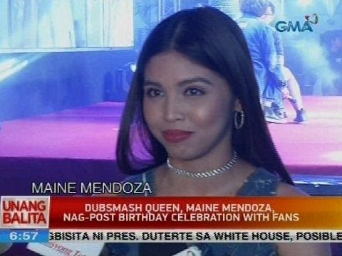 UB: Dubsmash Queen, Maine Mendoza, nag-post birthday celebration with fans - WATCH VIDEO HERE -> http://philippinesonline.info/aldub/ub-dubsmash-queen-maine-mendoza-nag-post-birthday-celebration-with-fans/   Subscribe to the GMA News and Public Affairs channel:  Visit the GMA News and Public Affairs Portal:  Connect with us on: Facebook: Twitter:  Video credit to GMA News YouTube channel