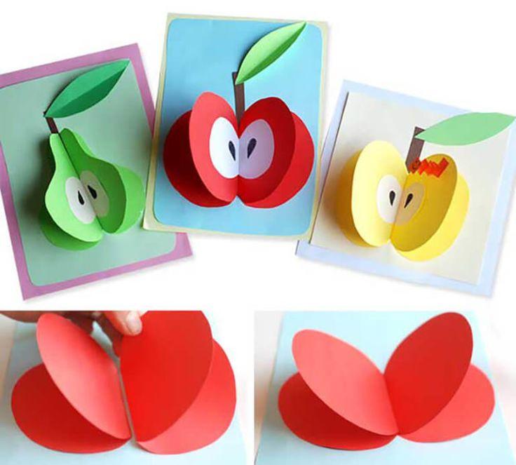 поделки с детьми из цветной бумаги и картона сих пор