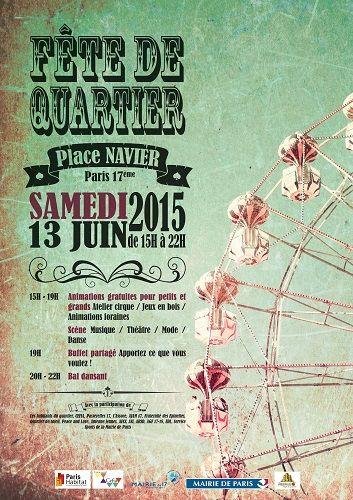 Fête de quartier Place Navier – Hello Paris 17