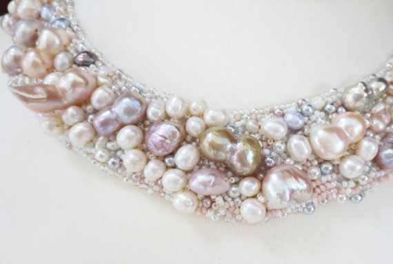 barocke Perlen Süßwasser Perlenkette Perlen von MashaBitterJewelry