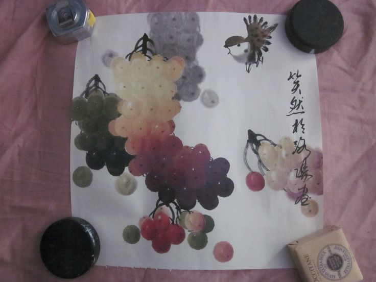 chinese grape painting by me. all copyrights reserved.