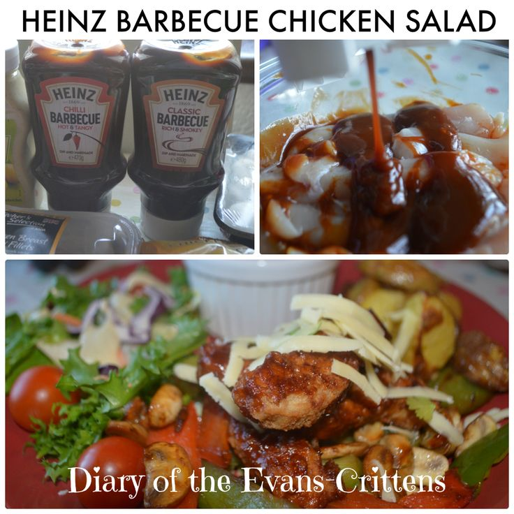 Heinz Barbecue Chicken Salad with Homemade potato Wedges #cbias #shop http://www.evans-crittens.com/2014/04/heinz-barbecue-chicken-salad-quick.html