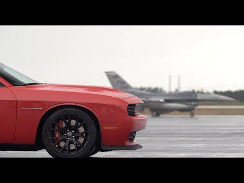 Dodge Challenger SRT Hellcat vs F16 Fighter Jet: Road & Track