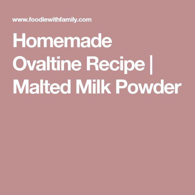 Homemade Ovaltine Recipe | Malted Milk Powder