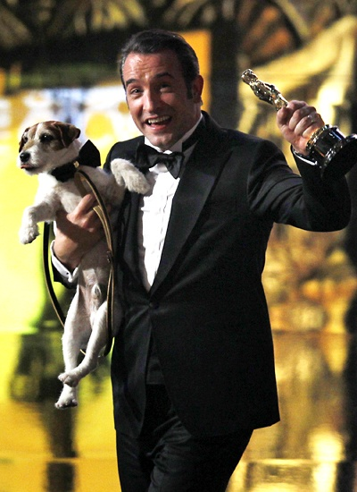 Jean Dujardin and Uggie