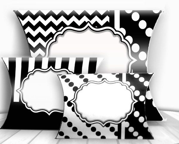 Pillow Box Templates, Pillow Boxes Printables, Digital Downloads File.