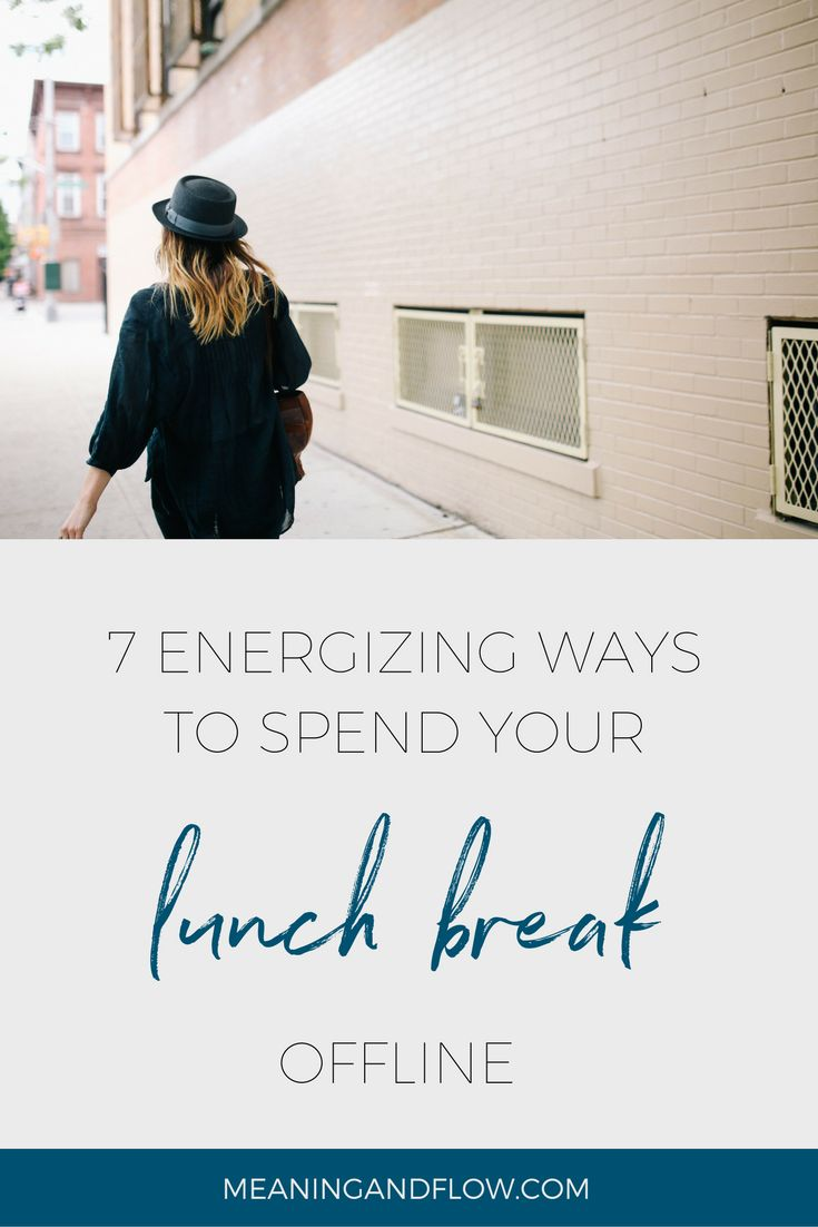 When lunch time rolls around, it can feel simplest just to grab your lunch from the office fridge, sit at your desk, and work on emptying your inbox. If you're on top of your email, you might scroll through your Facebook feed. But you spend your whole work day staring at a screen. On your next lunch break, give yourself a real break: get out of the office and try one of these seven energizing ideas that will leave you invigorated for the afternoon. See a show A few enterprising theatre…
