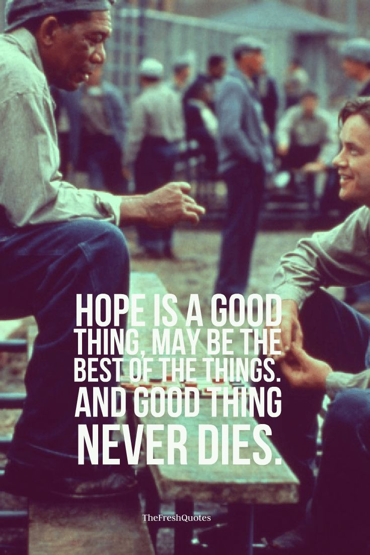"hope of shawshank redemption ""fear can hold you prisoner hope can set you free"" the story of the shawshank redemption is all about hope and holding on to it when life kicks you down hope."