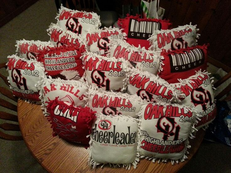 end of the year gift for cheerleaders i just asked each of them to bring