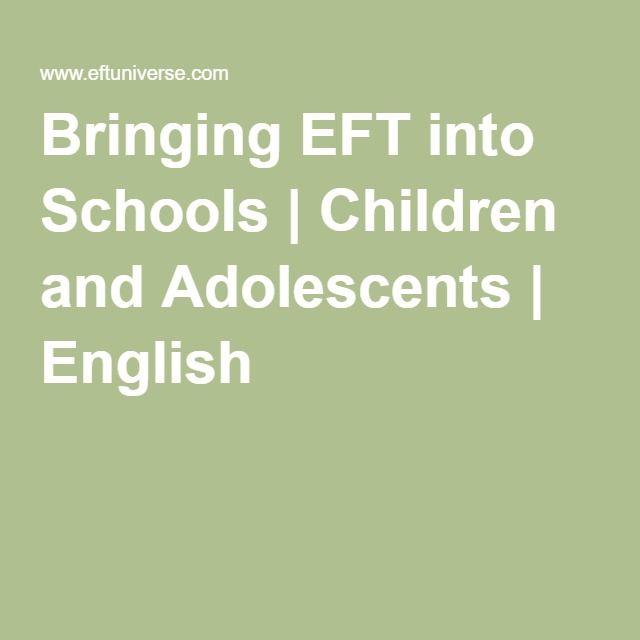 Bringing EFT into Schools