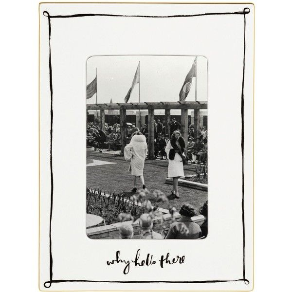 KATE SPADE Daisy place porcelain photograph frame (€78) found on Polyvore featuring home, home decor, frames, whimsical picture frames, friends frames, friends picture frames, kate spade picture frames and friend picture frames