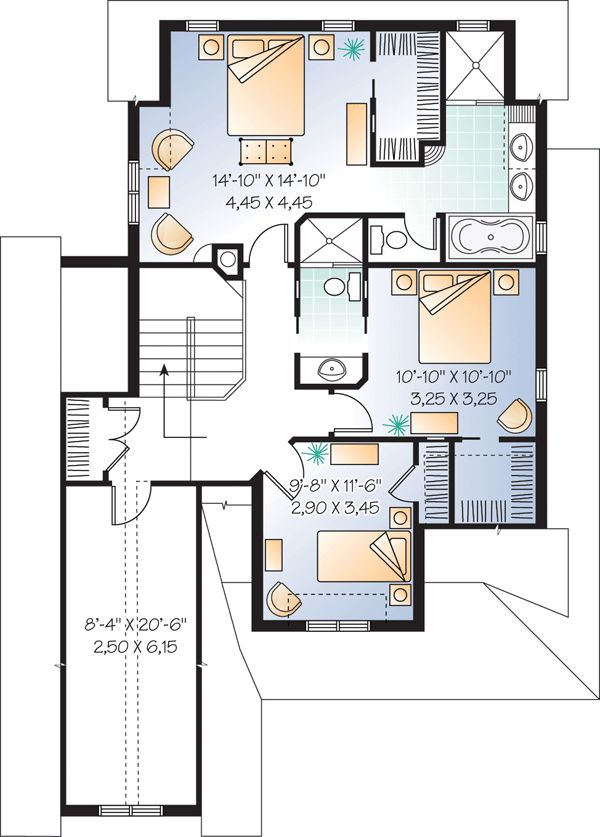The 140 best my future house blueprint ideas images on pinterest second floor plan of country house plan 65110 malvernweather Image collections