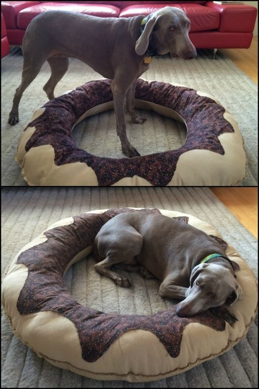 Give your furry friend the ultimate bed by making this adorable DIY donut dog bed!