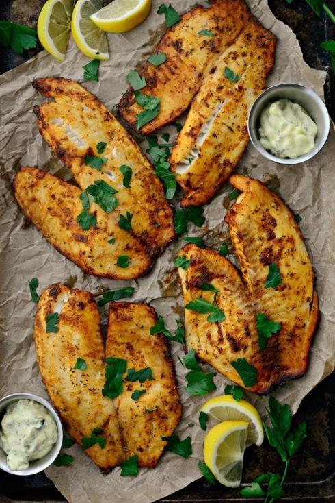 poisson fines herbes plaque cuisson sauce citron