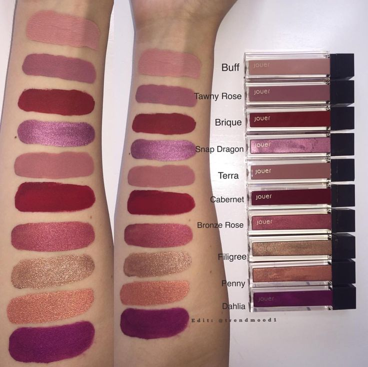 Lk at these SWATCHES!! Here's an exclusive SNEEK PEEK at Jouer Cosmetics Fall 2016 lip creme collection! So gorgeous!!