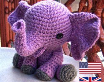 Baby Elephant-Instant Download Crochet Pattern-Toy Elephant-Amigurumi Elephant-DIY Crochet Toy-Stuffed Toy Animal-Elephant Tutorial