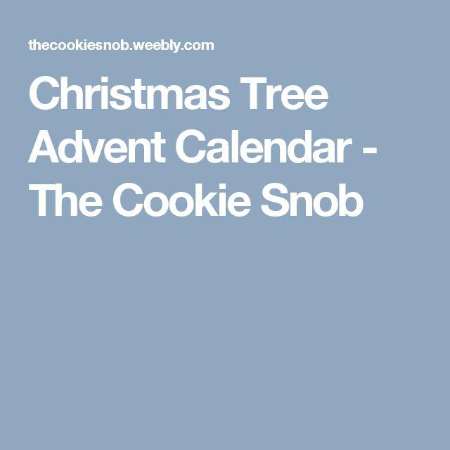 Christmas Tree Advent Calendar - The Cookie Snob