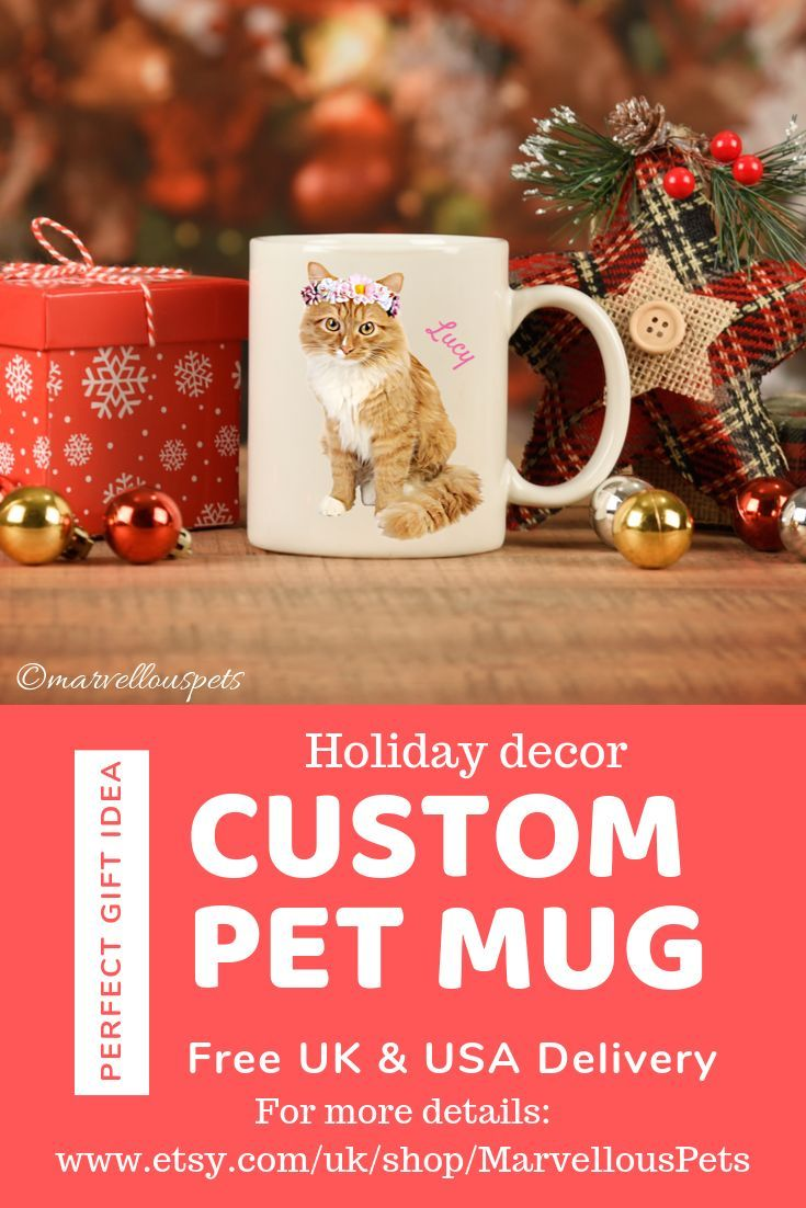 Personalized Cat Mug Custom Dog Mug Gift For Her Cat Lover Gift Holiday Decor Pet Owner Loss Black Friday Custom Gifts Digital Art With Images Cat Owner Gift Cat Lover Gifts