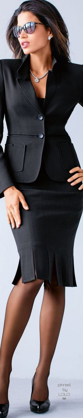 Madeleine Black Skirt and Blazer | LOLO❤︎