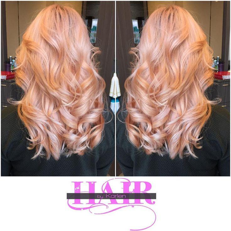 Rose Gold.#igetgoodhairbyKaysloxx #Kaysloxx #Hairporn #Haircolor #Haircuts…