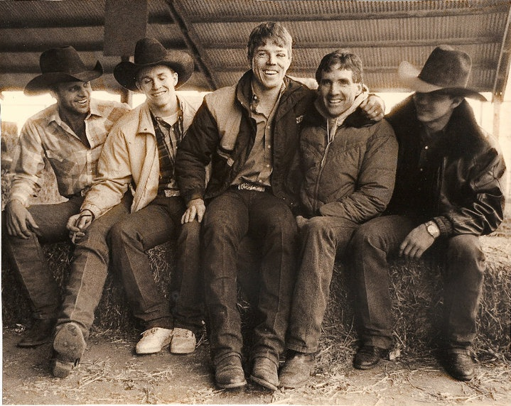 Cody Lambert, Ty Murray, Tuff Hedeman, John Growney, and Jim Sharp (photo by Sue Rosoff)